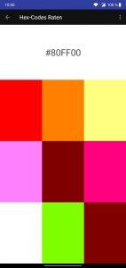 Addictive Colors Farbenspiel - HEX Codes raten